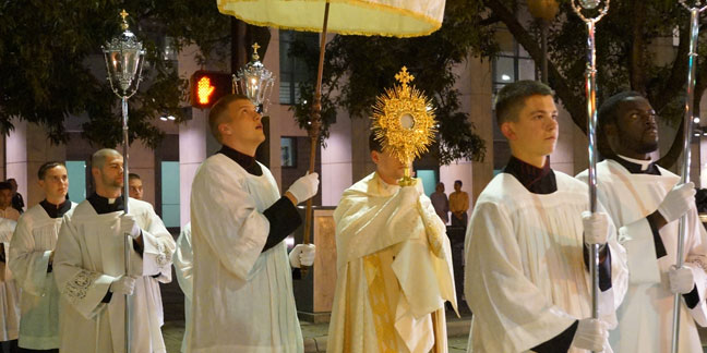 Friday night Eucharistic Procession