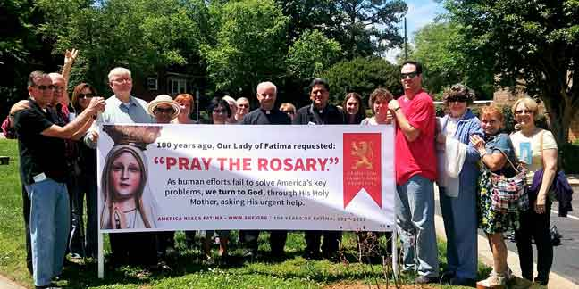 Hickory parish celebrates Our Lady of Fatima anniversary