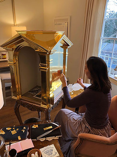 Local artists glorify God with creation of gilded tabernacle