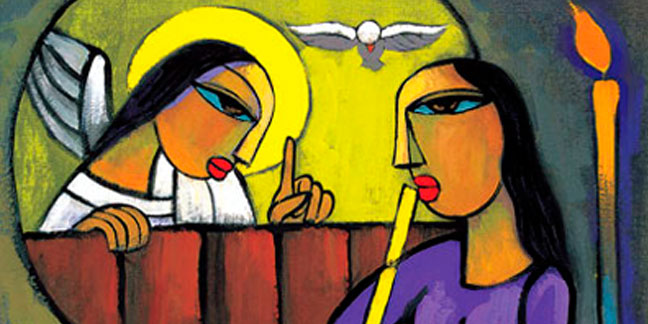 the annunciation of the lord celebrated april 9 in 2018