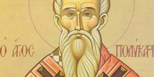 St. Polycarp, martyr, remembered Feb. 23